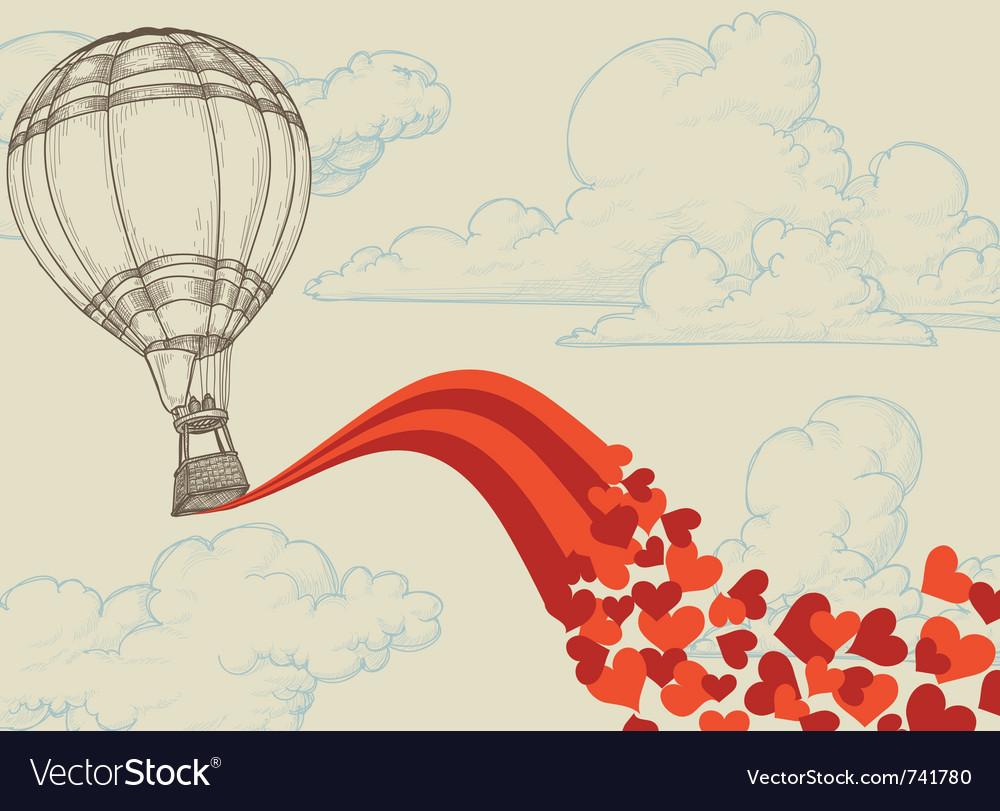 Love balloon vector