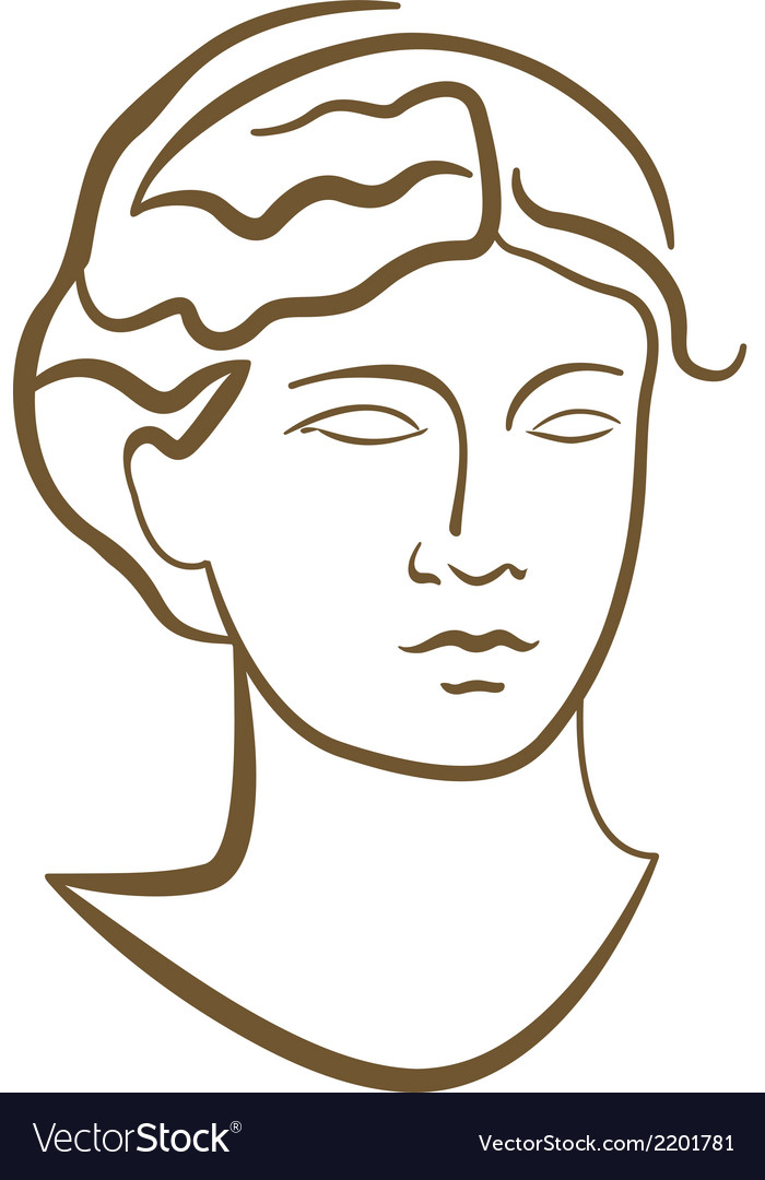 Antique woman portrait vector