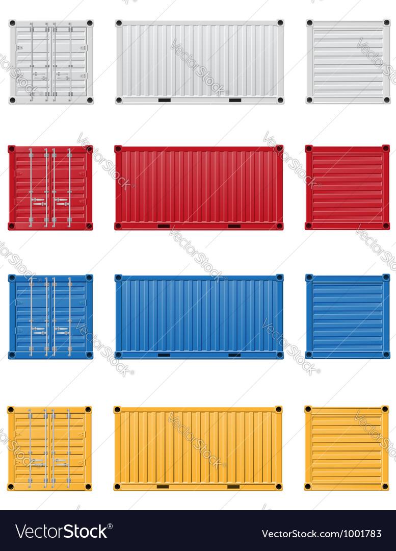 Cargo container 03 vector