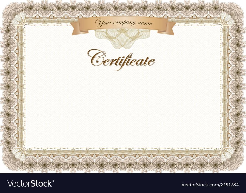 Certificate vintage graduate diploma vector