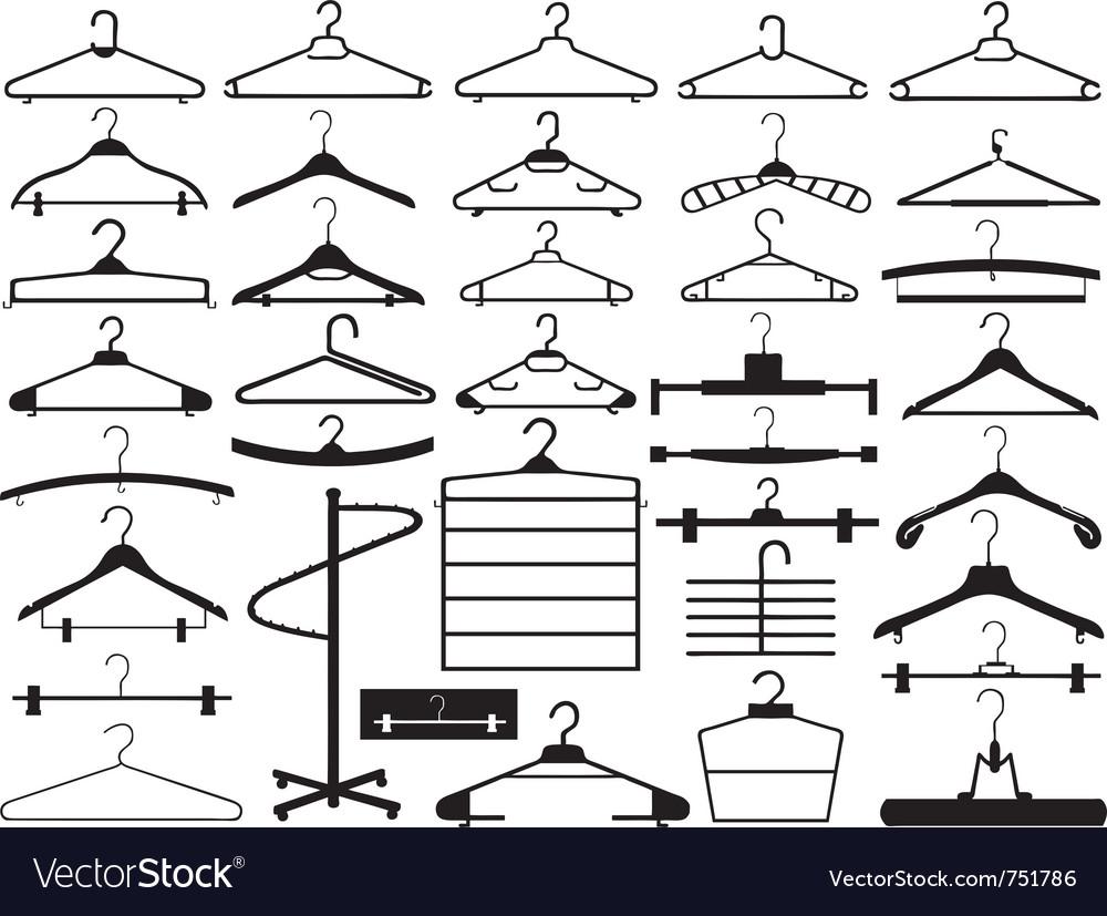 Hanger set vector