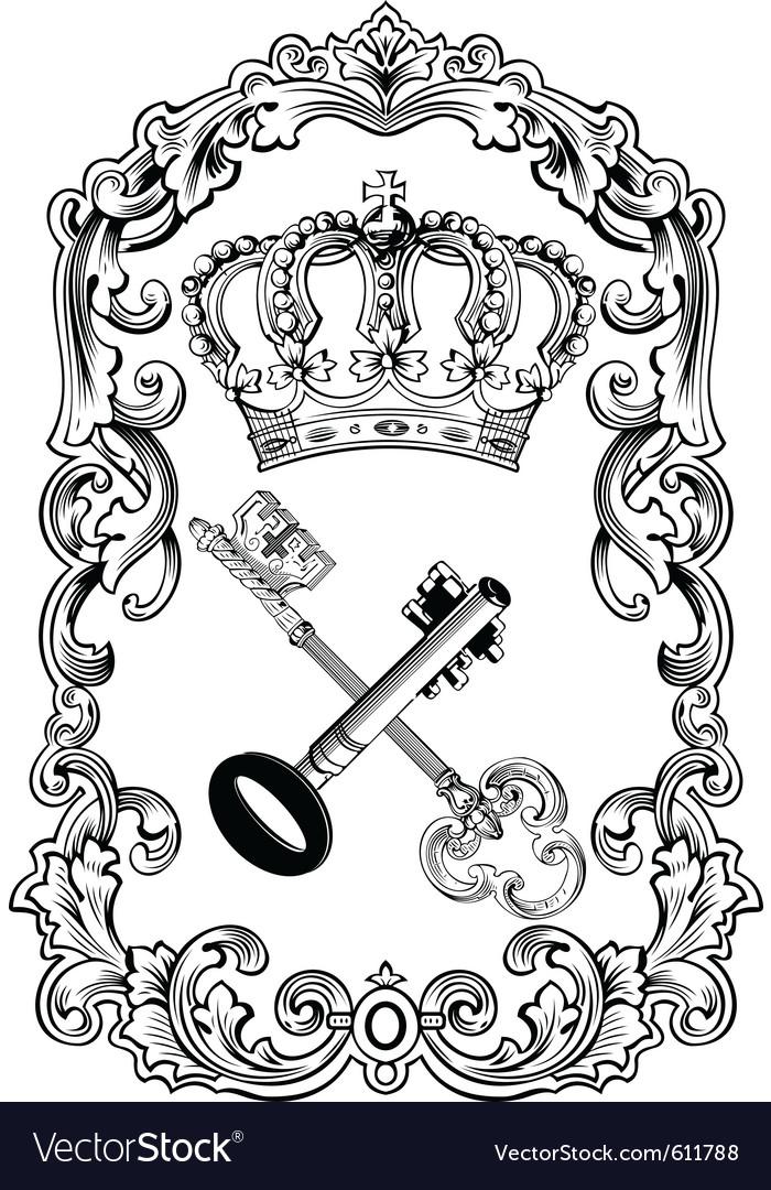 Royal frame crown vector