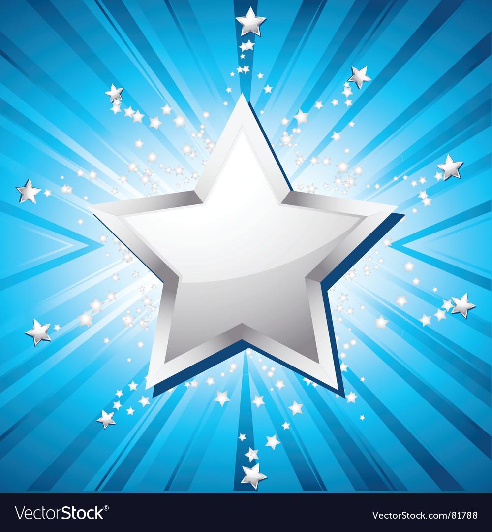 Silver festive star vector