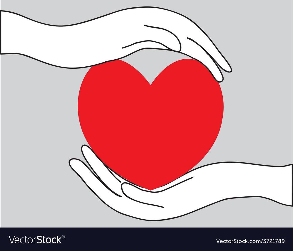 Healthy heart vector
