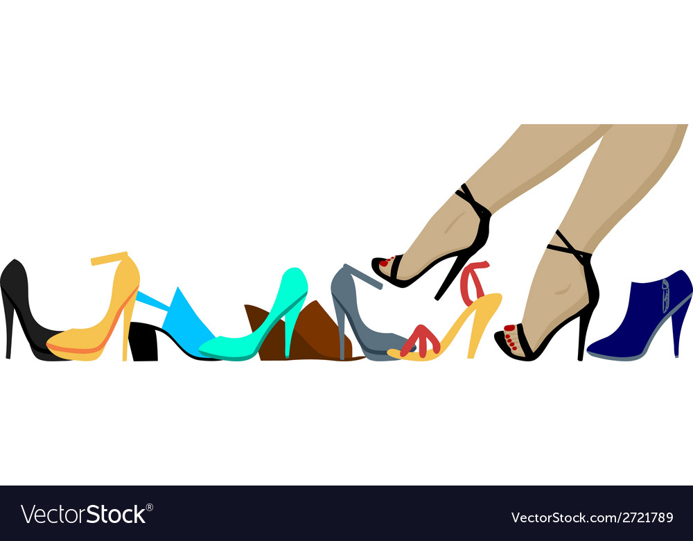 Legs and shoes vector