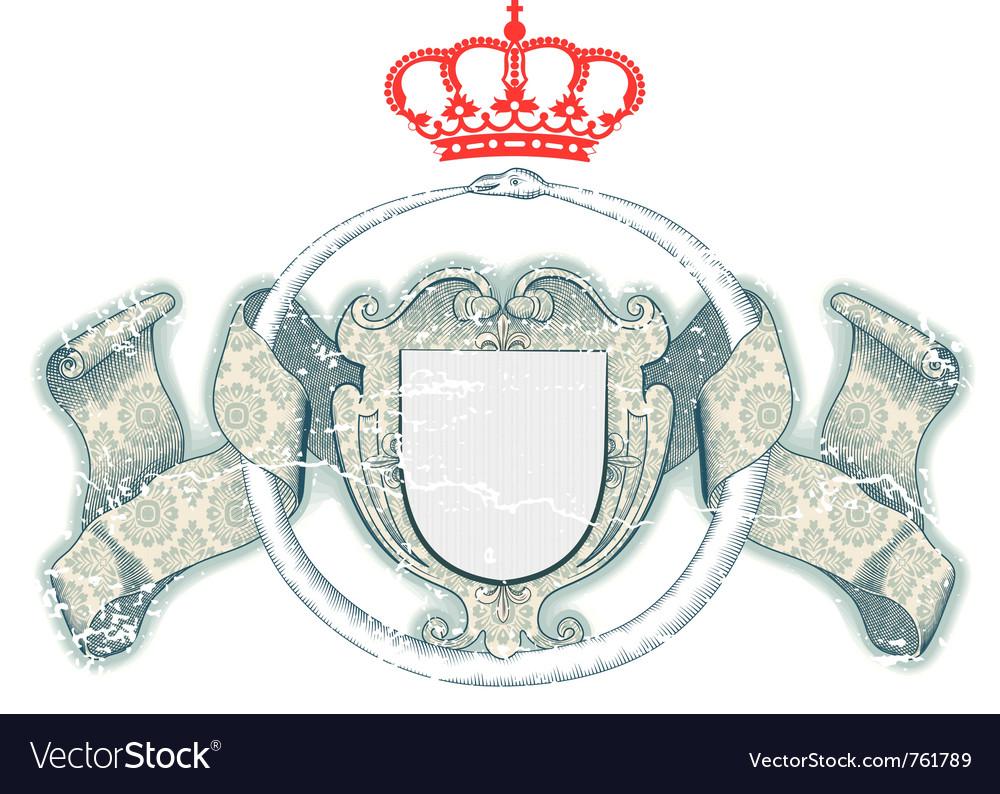 Royal shield vector