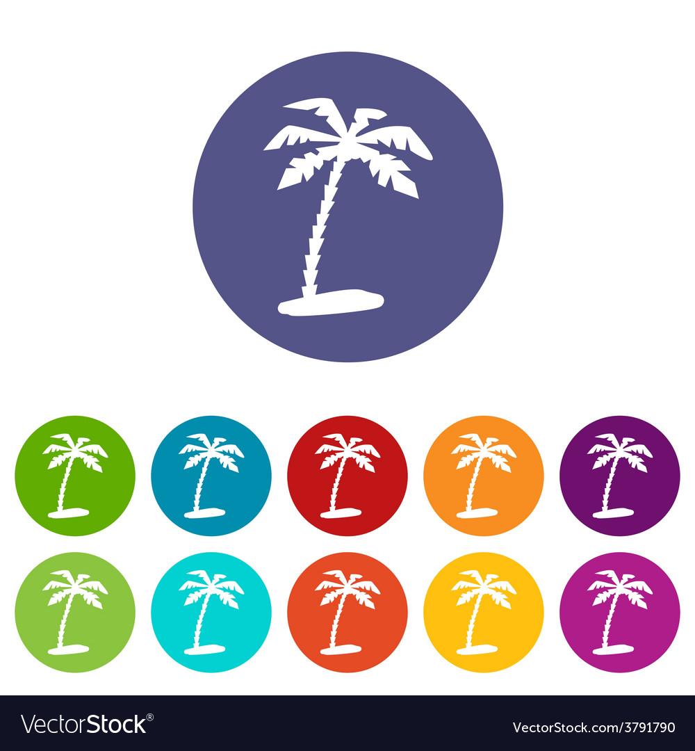 Island web flat icon vector