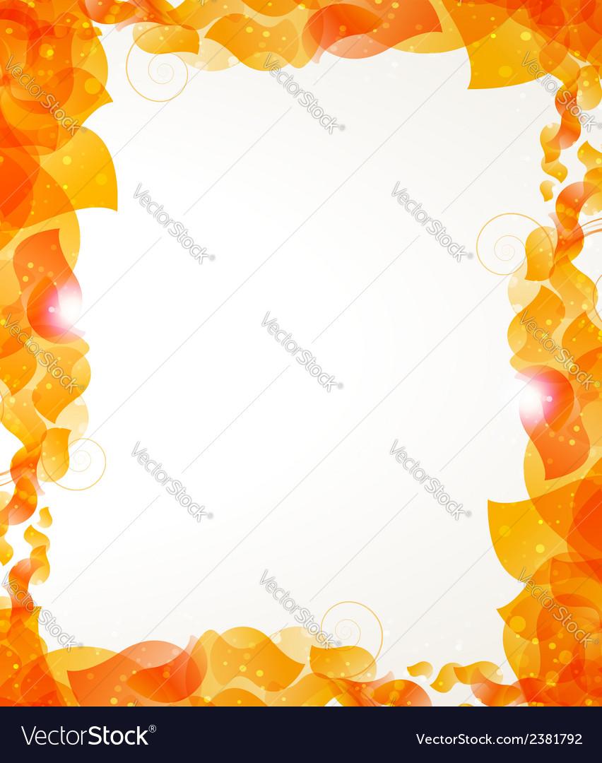 Orange petals frame vector