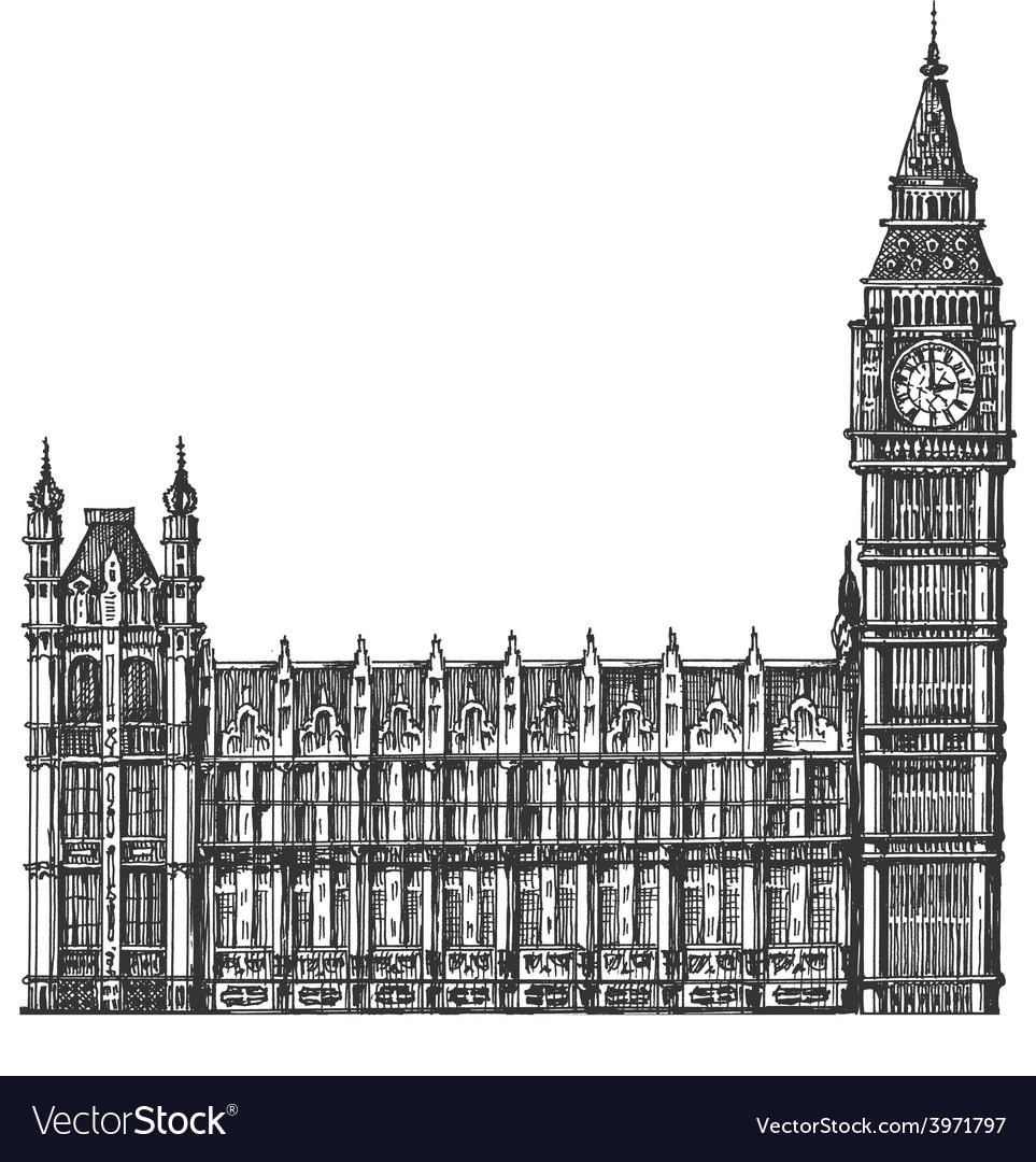 Big ben logo design template london or vector