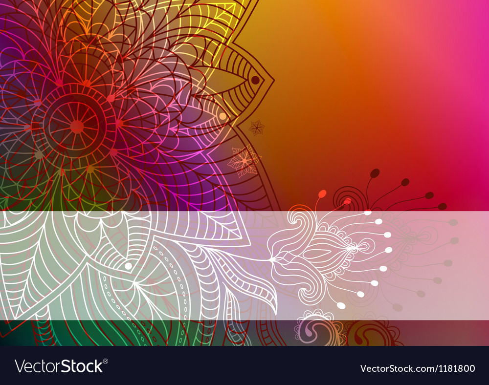 Colorful card vector