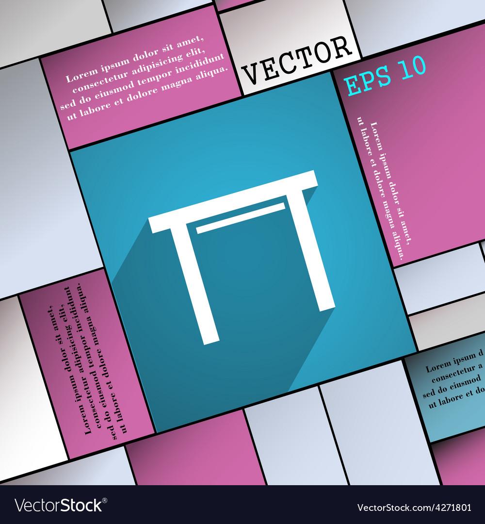 Stool seat icon symbol flat modern web design with vector