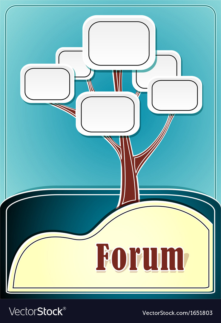 Forum tree or concept information marine backgroun vector