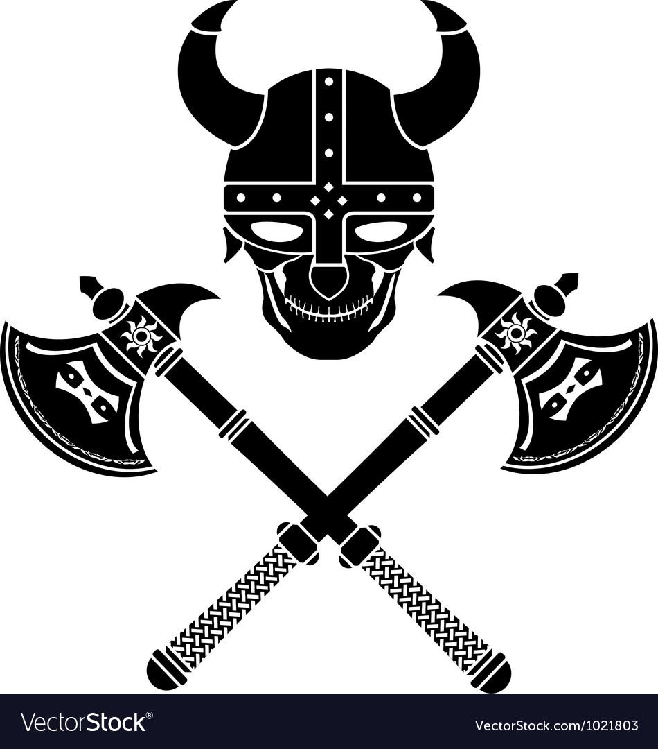 Skull of the warrior first variant vector