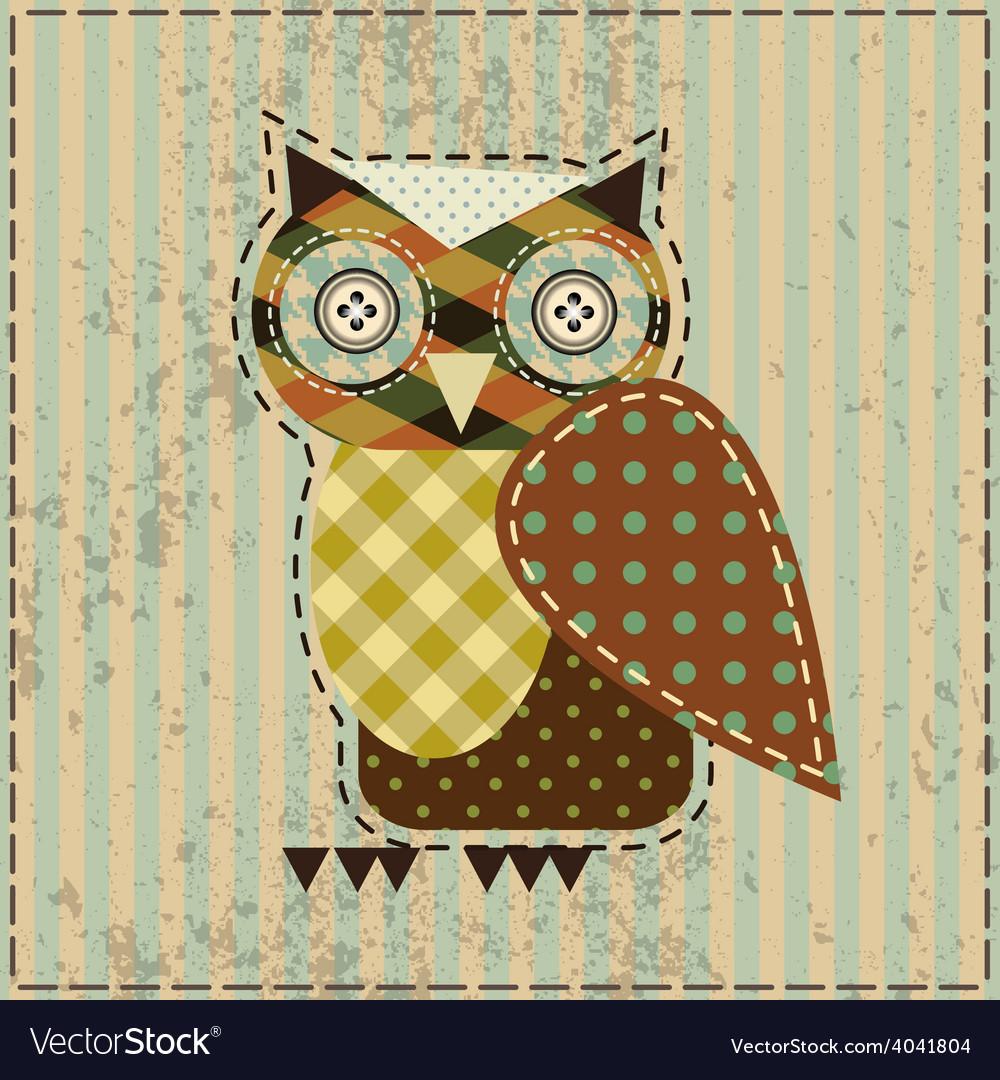 Retro owl vector