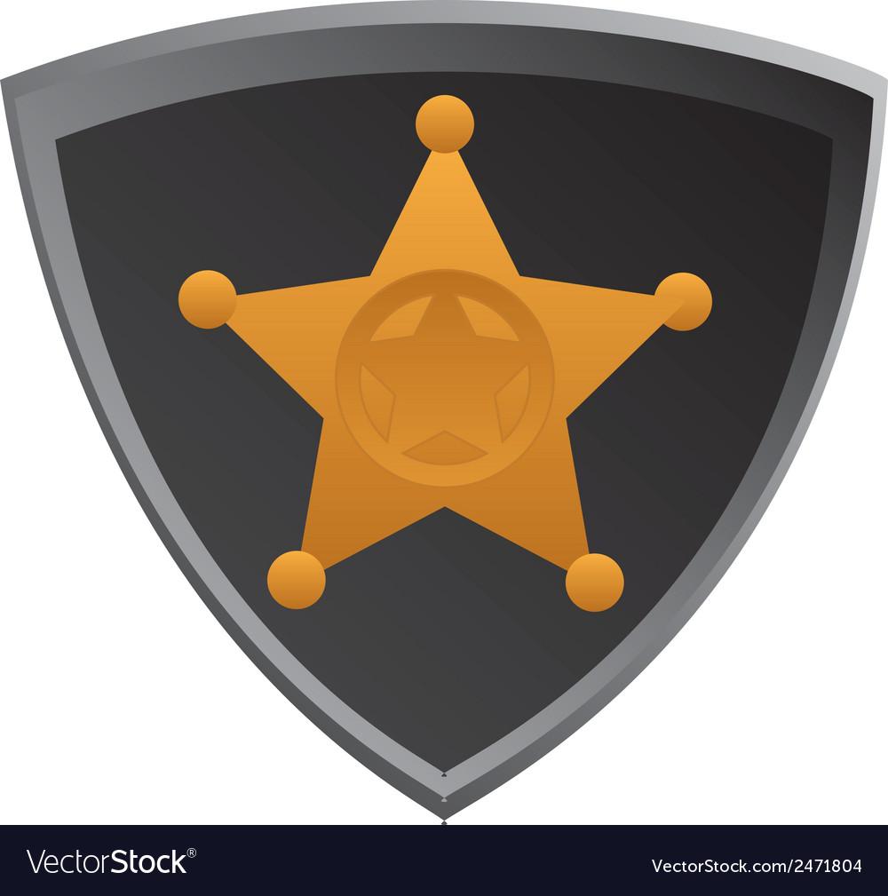 Shield-sherifs-badge vector