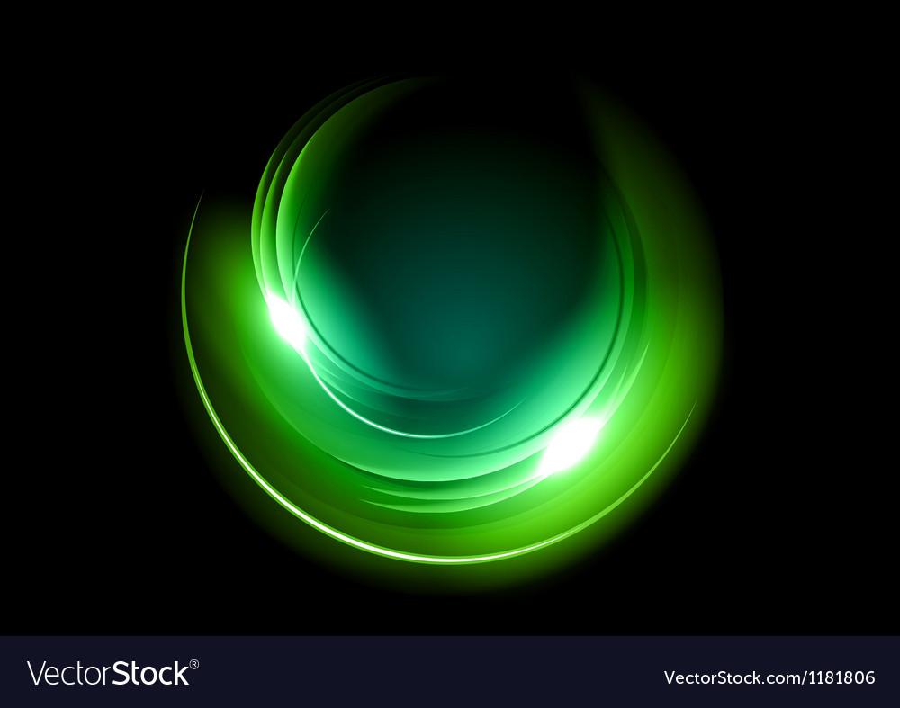 Abstract circle dark green vector