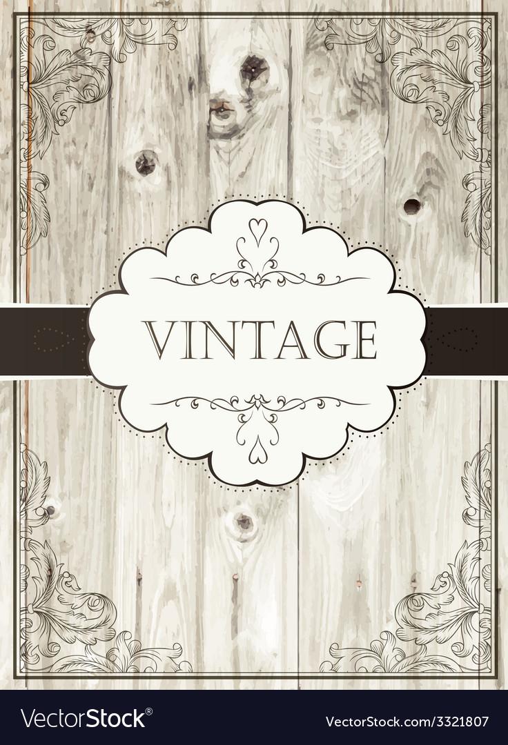 Vintage card template vector
