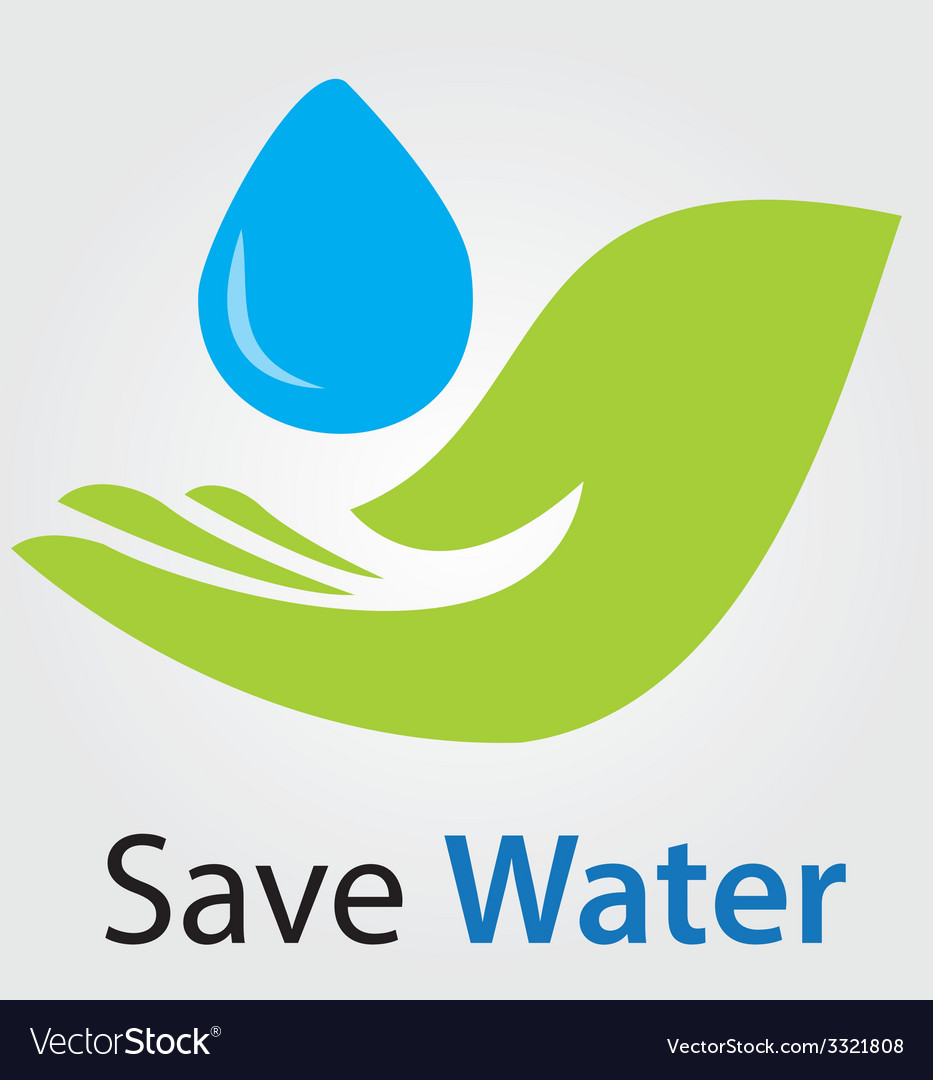 Save water concept vector