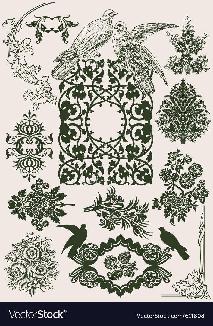 Vintage royal design vector