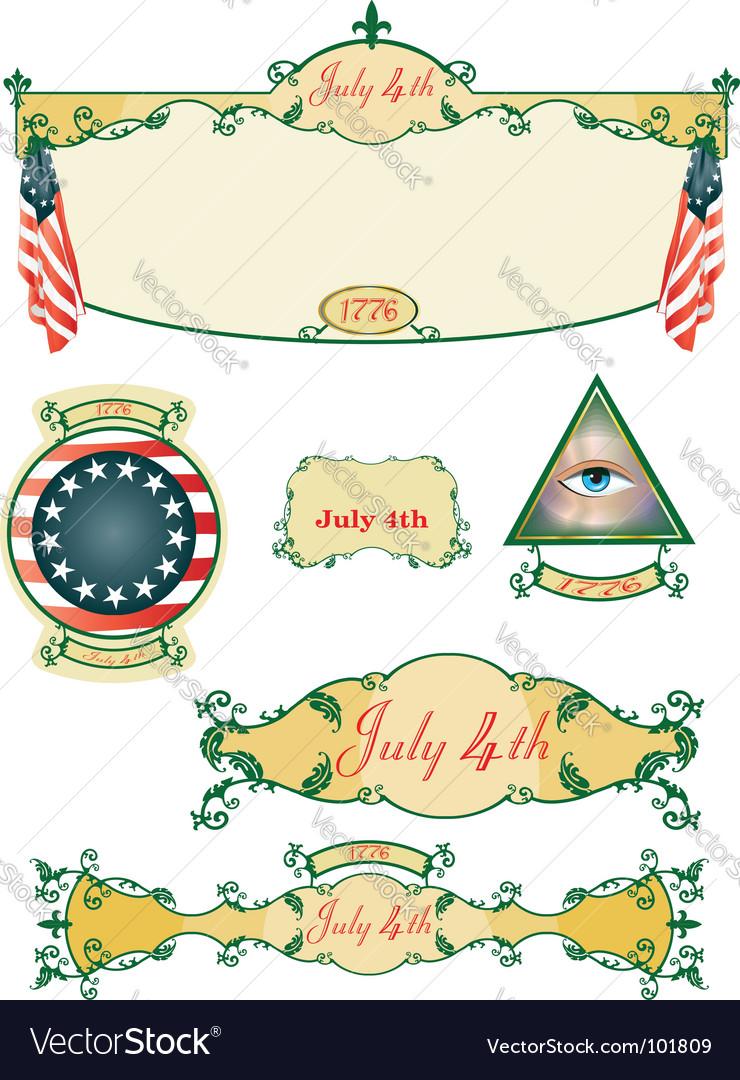 July historic vector