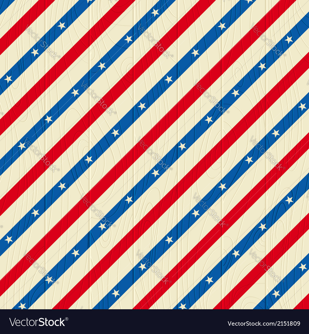 Square wooden usa background vector