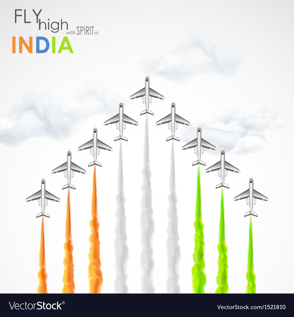 Celebration of indian freedom vector