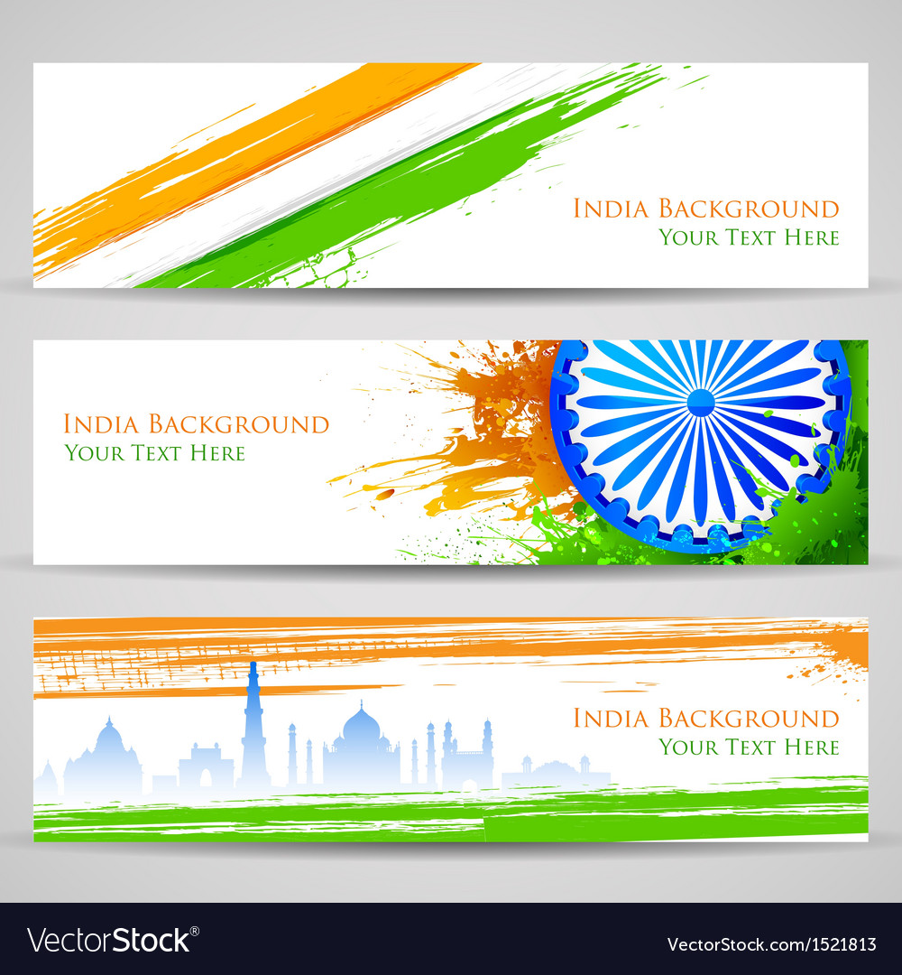 Banner and header for india celebration vector