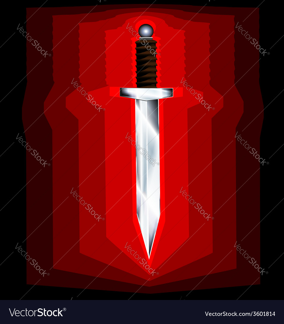 Abstract sword vector