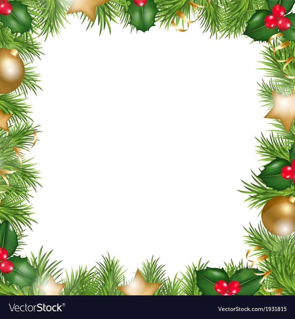 Merry christmas border vector