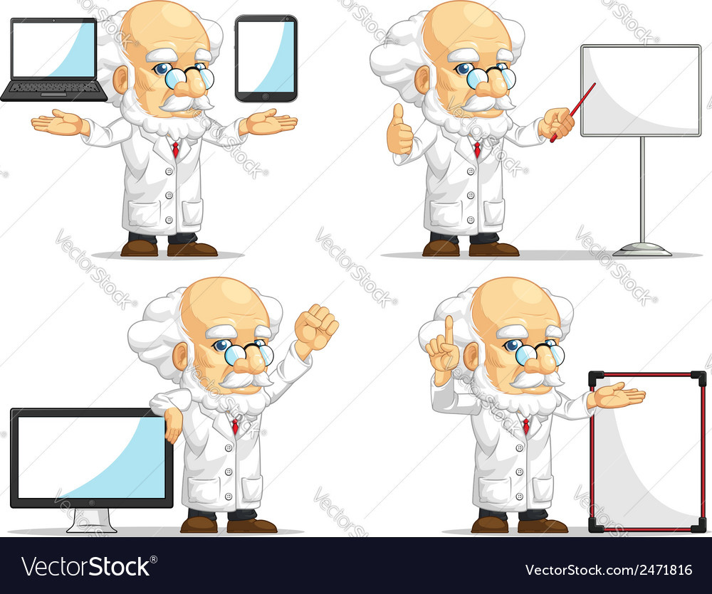 Scientist or professor customizable mascot vector
