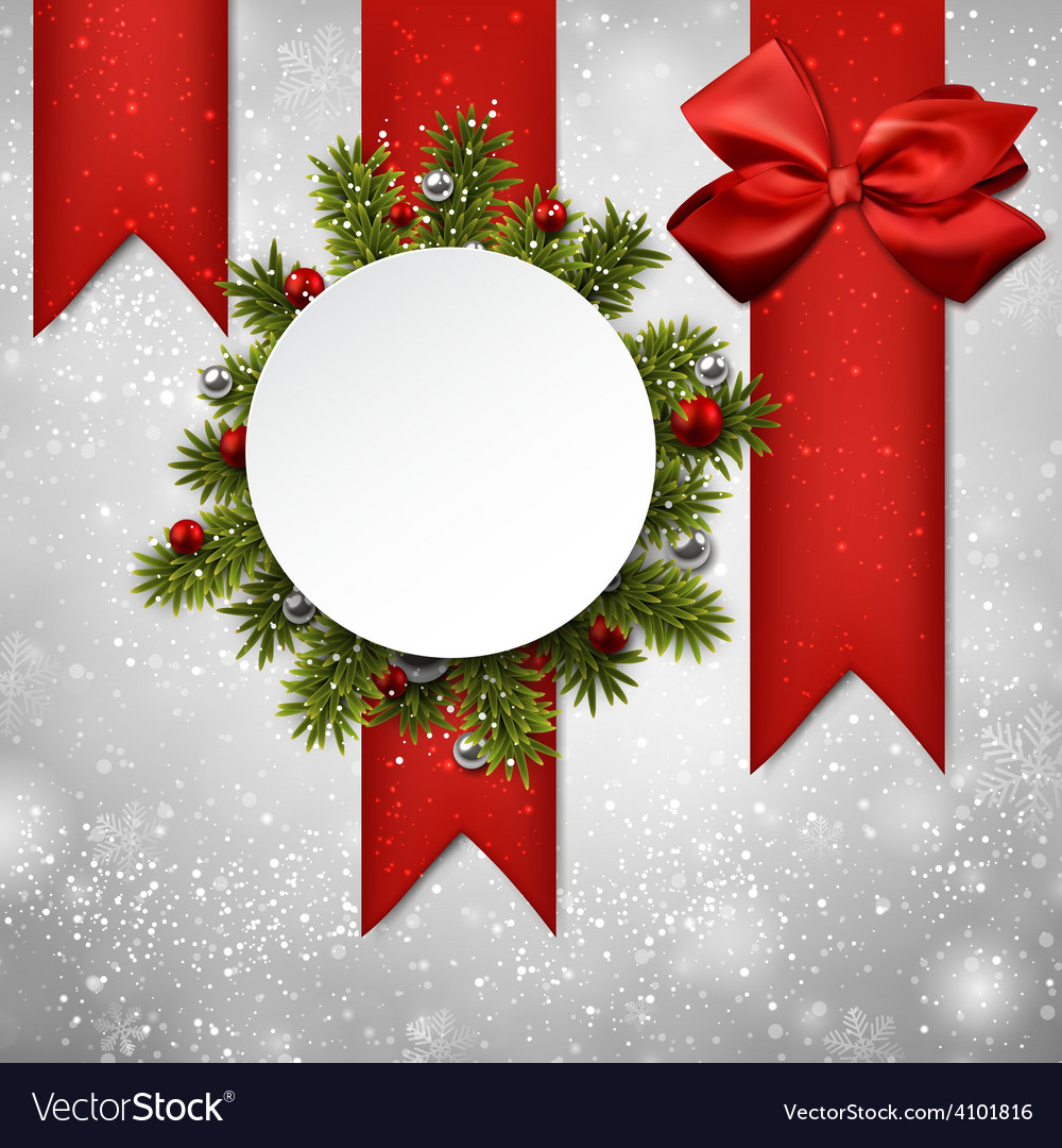 White round paper christmas card vector