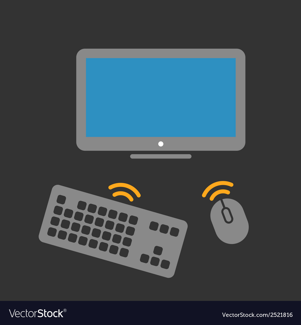 Wireless computer equipment vector