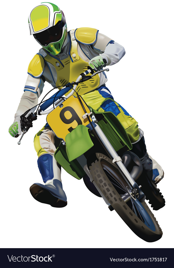 Trials motorcycle vector