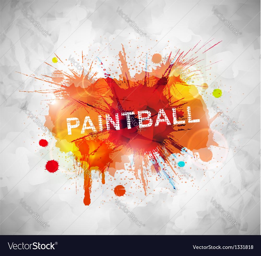 Paintball banner vector