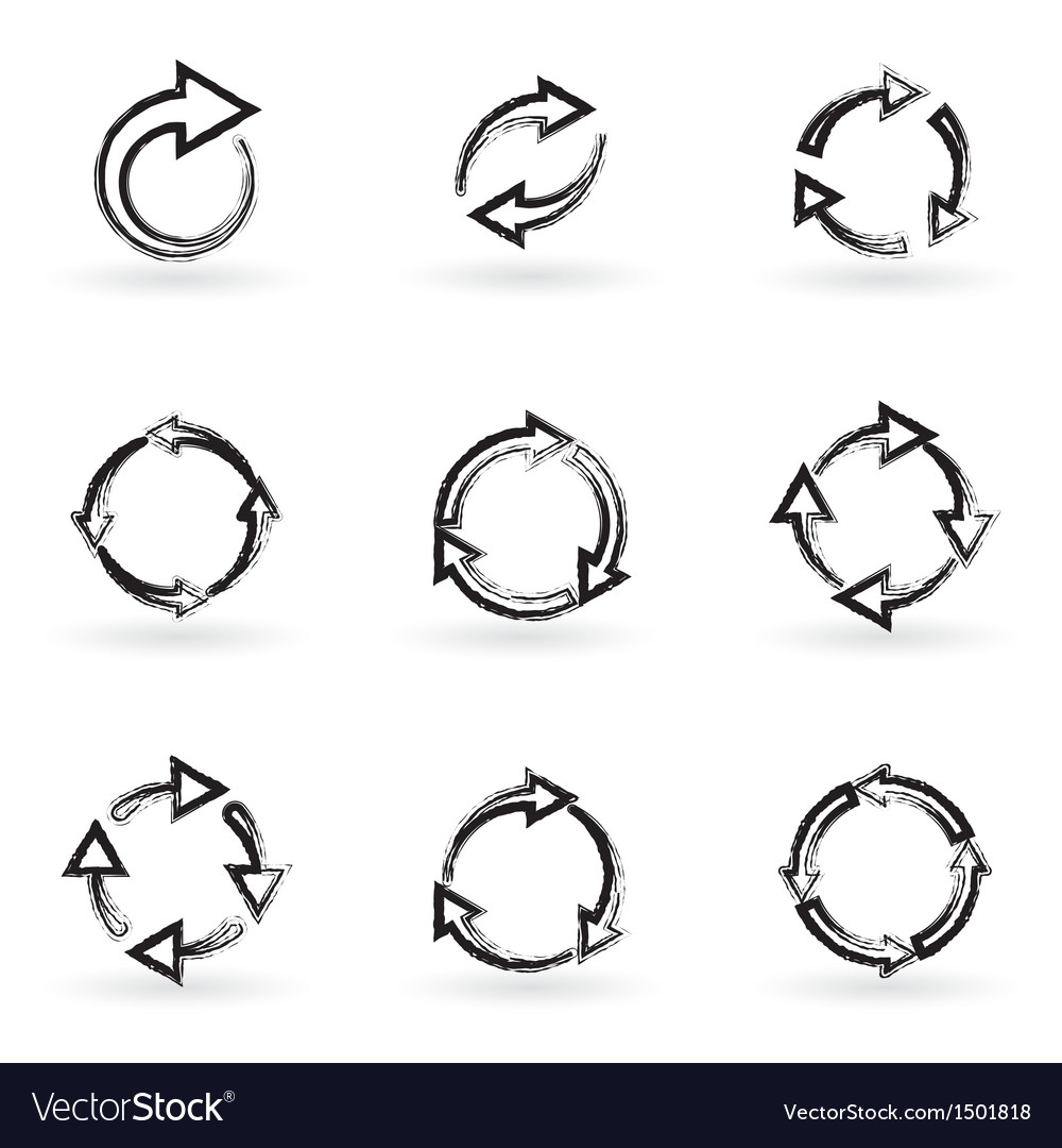 Signs of recycling vector