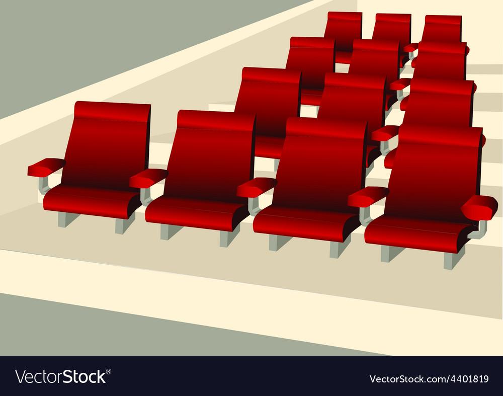 Empty seats vector