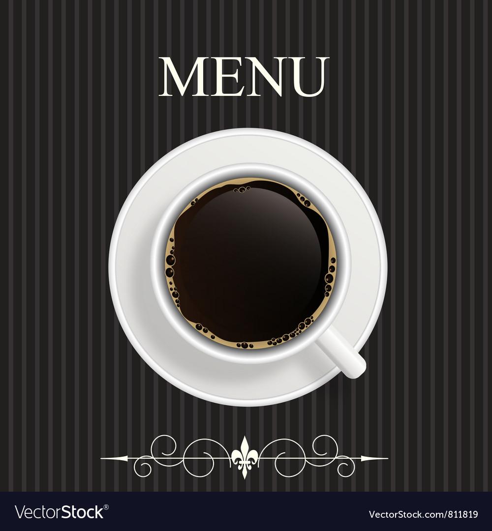 Menu for restaurant cafe vector