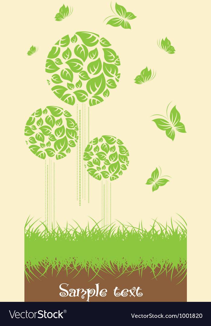 Ecological trees vector