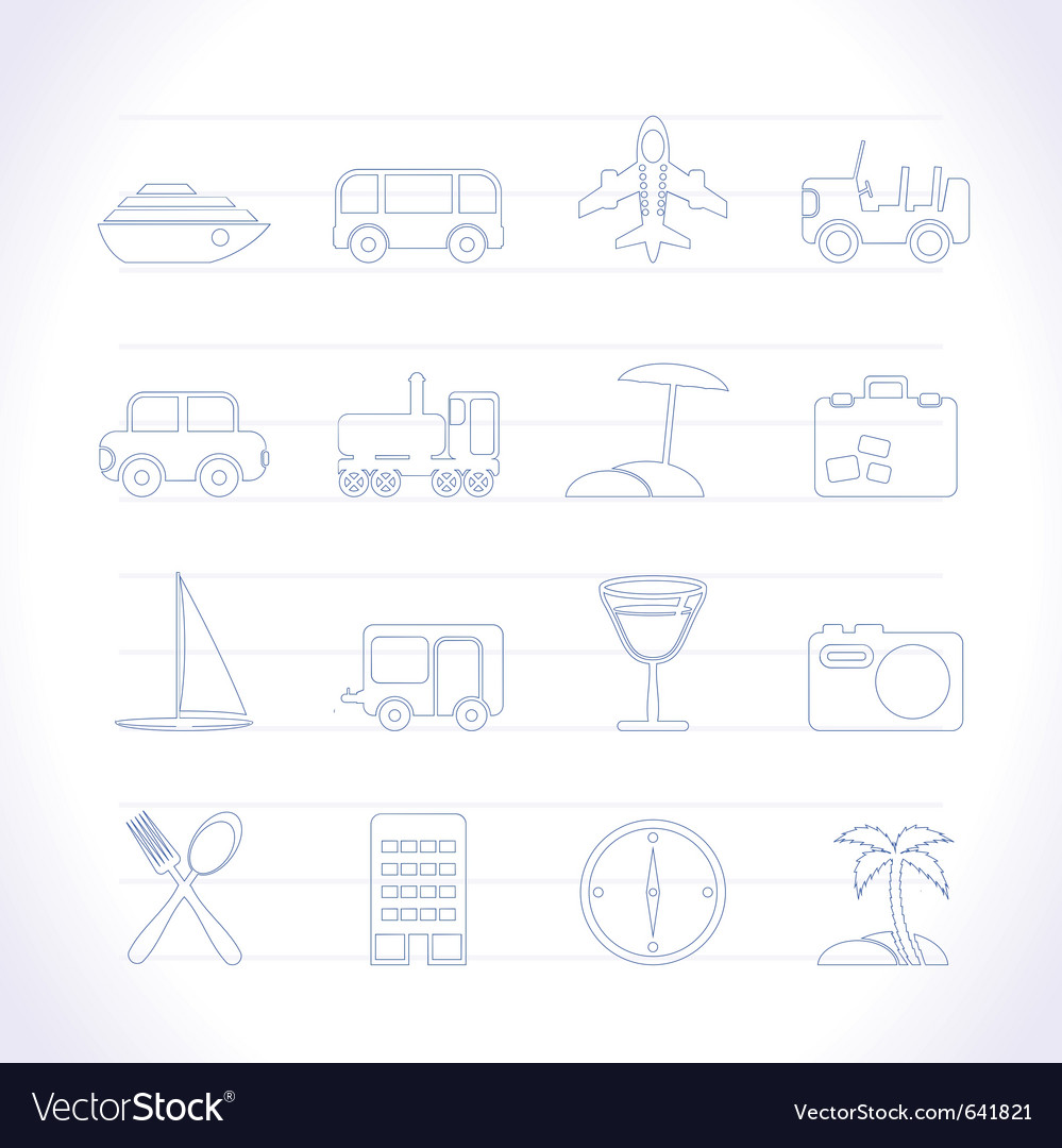 Transportation and holiday icons vector