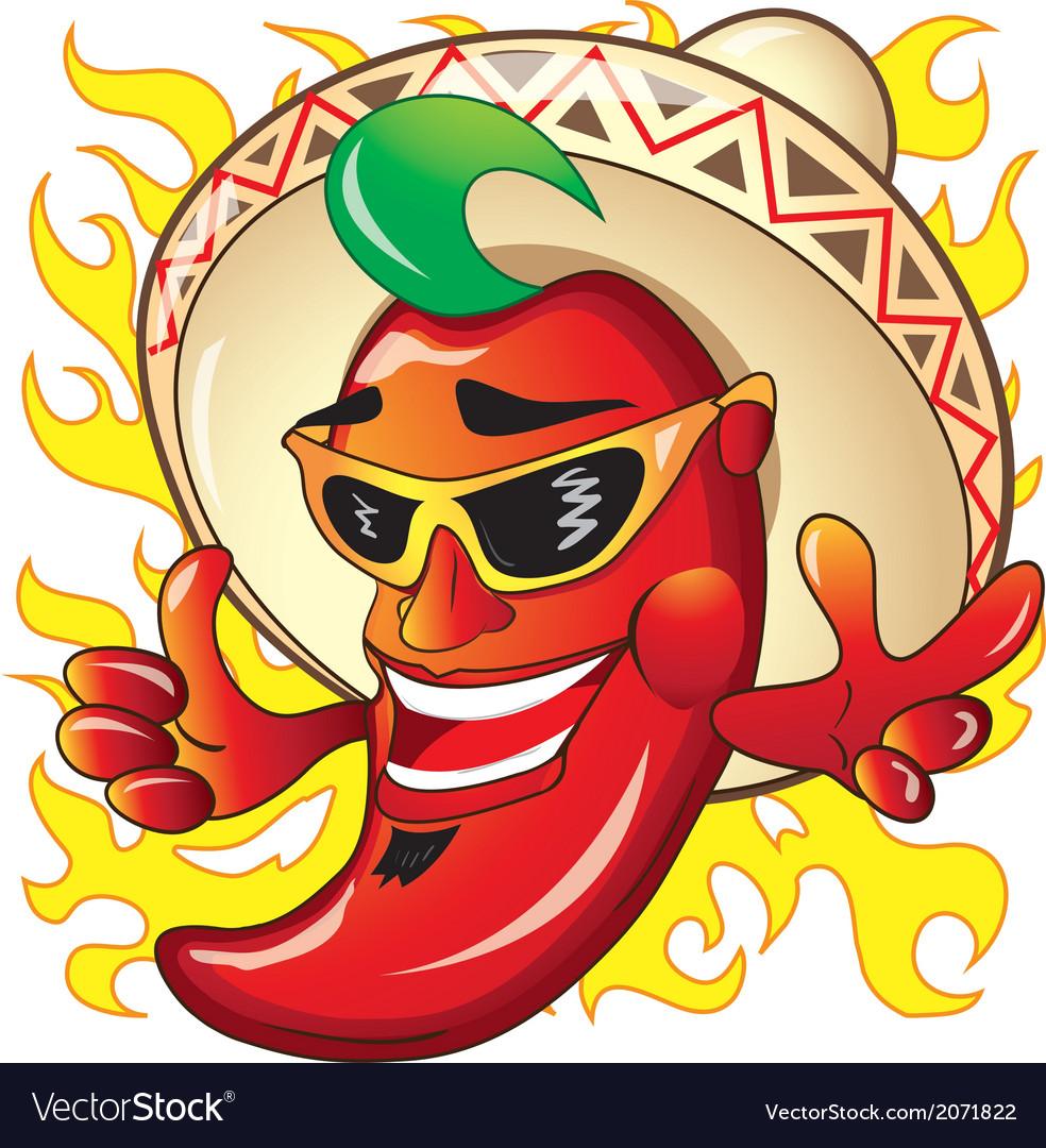 Cartoon red hot peper vector