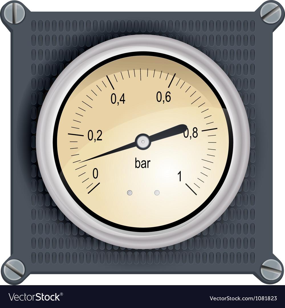 Analog dashboard vector