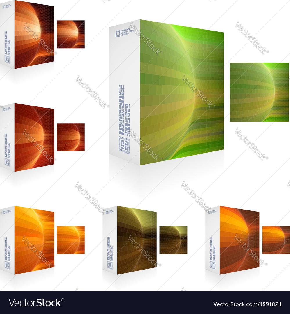 Packaging box vector