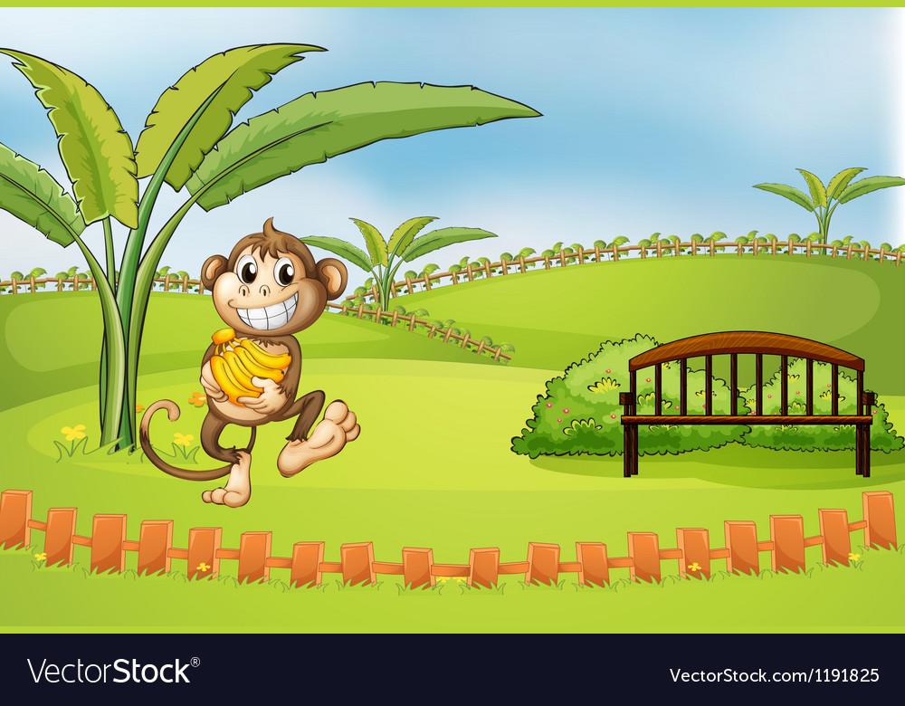 A playful monkey vector