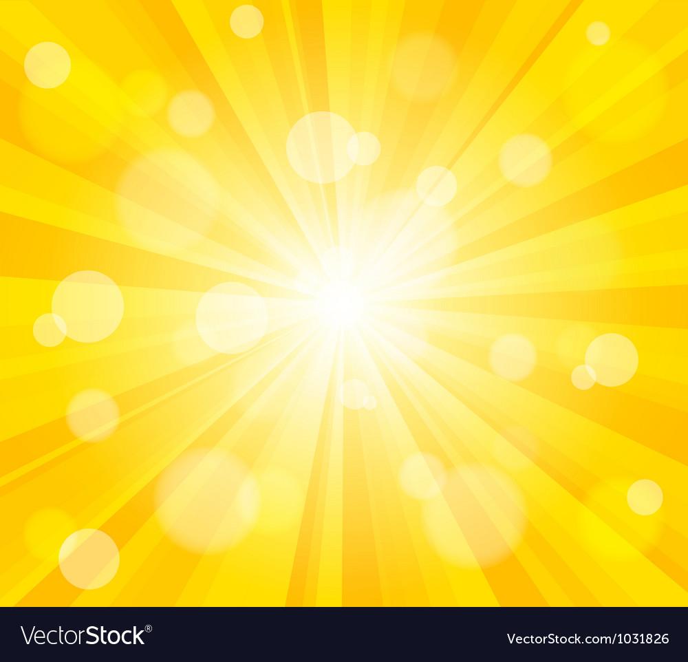 Bright sun effect background vector