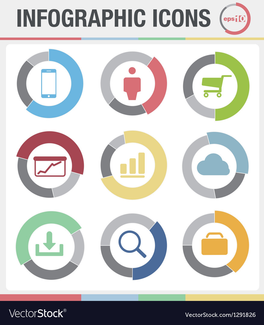 Information graphics icons set vector