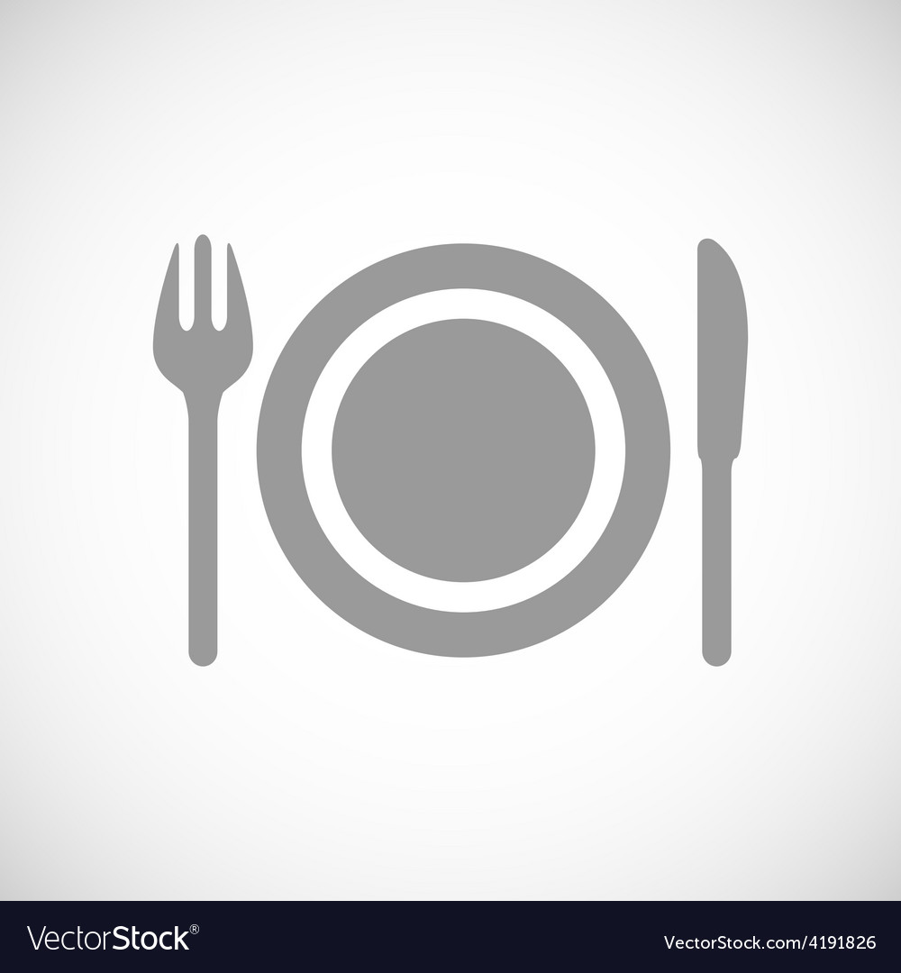 Plate black icon vector