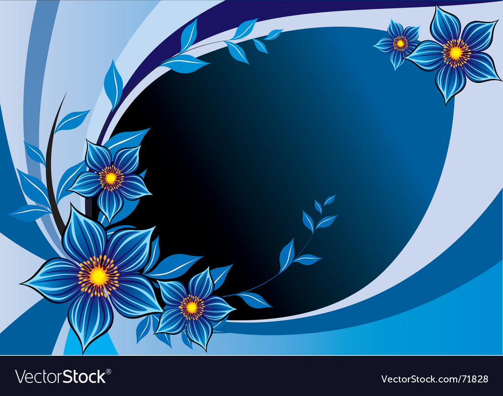 Floral copy space vector