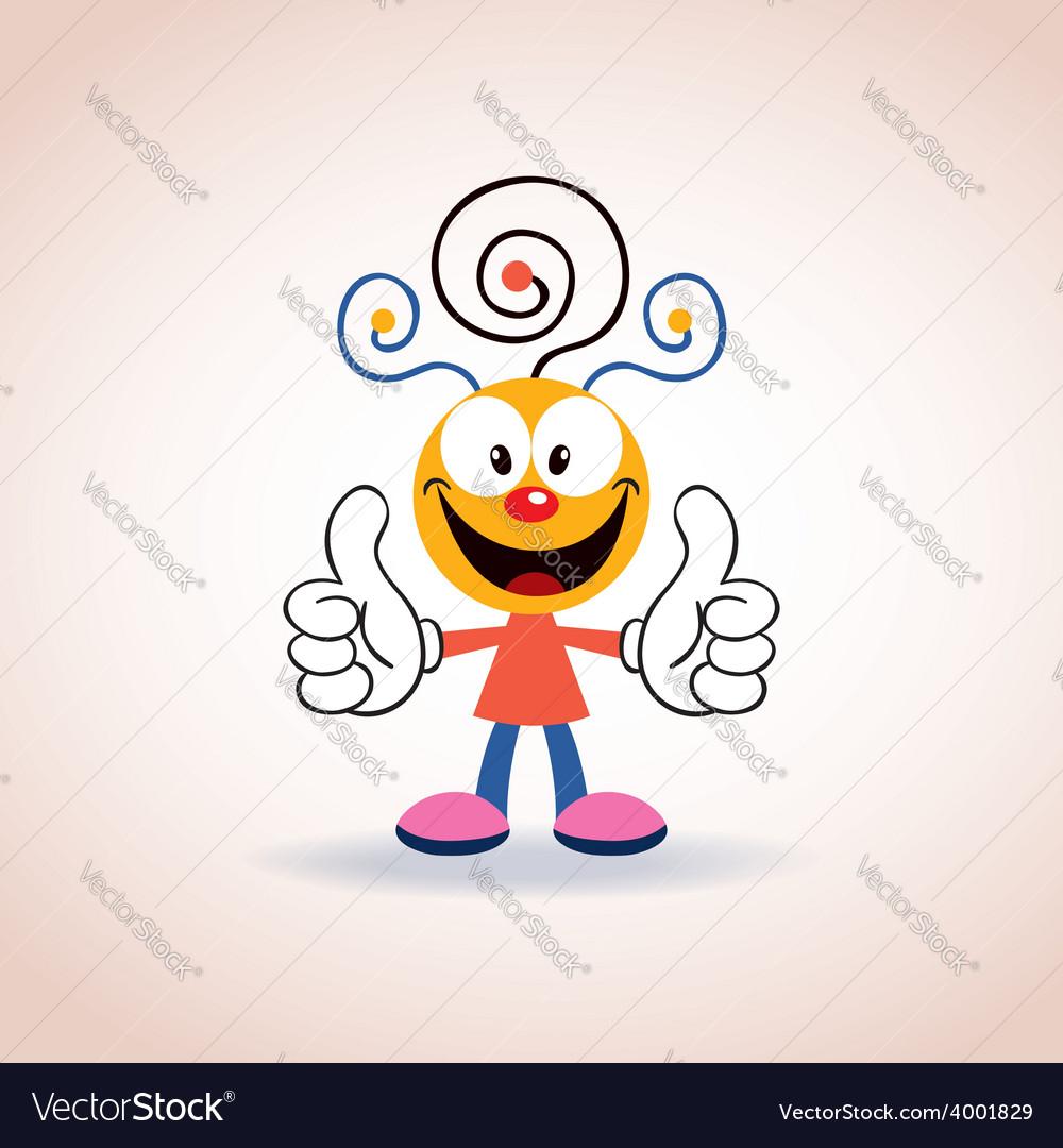 Cute mascot cartoon character 2 vector