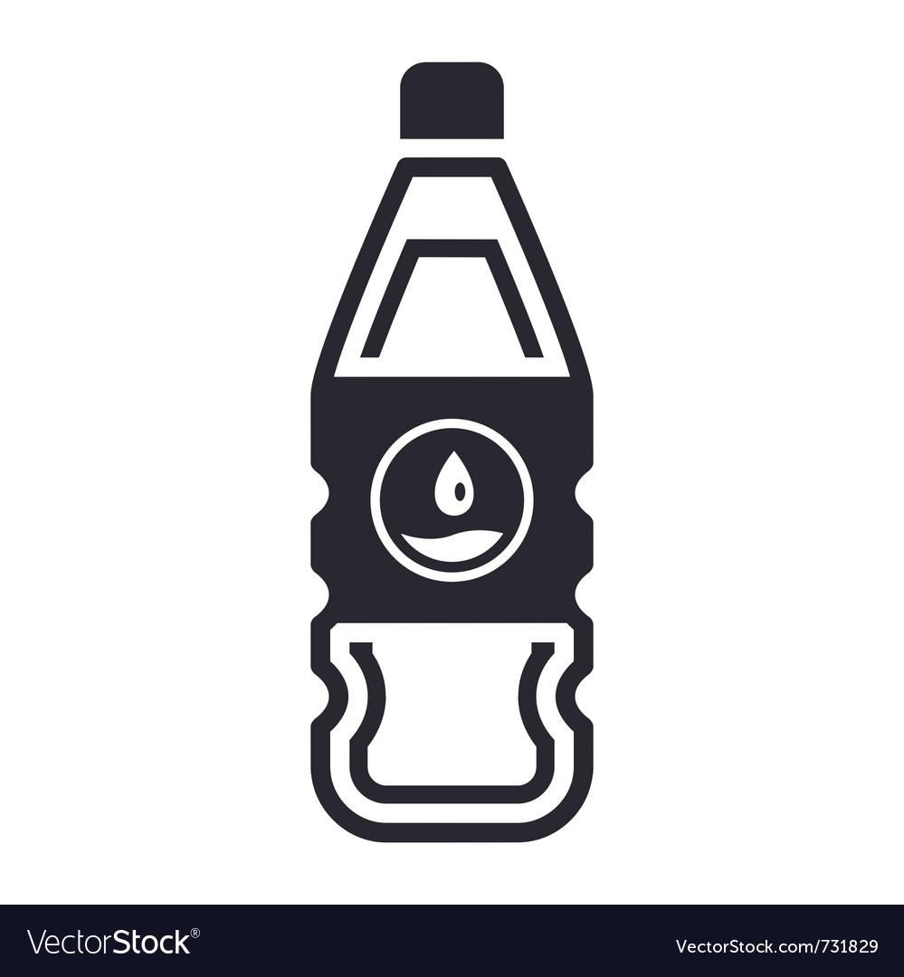 Liquid bottle vector