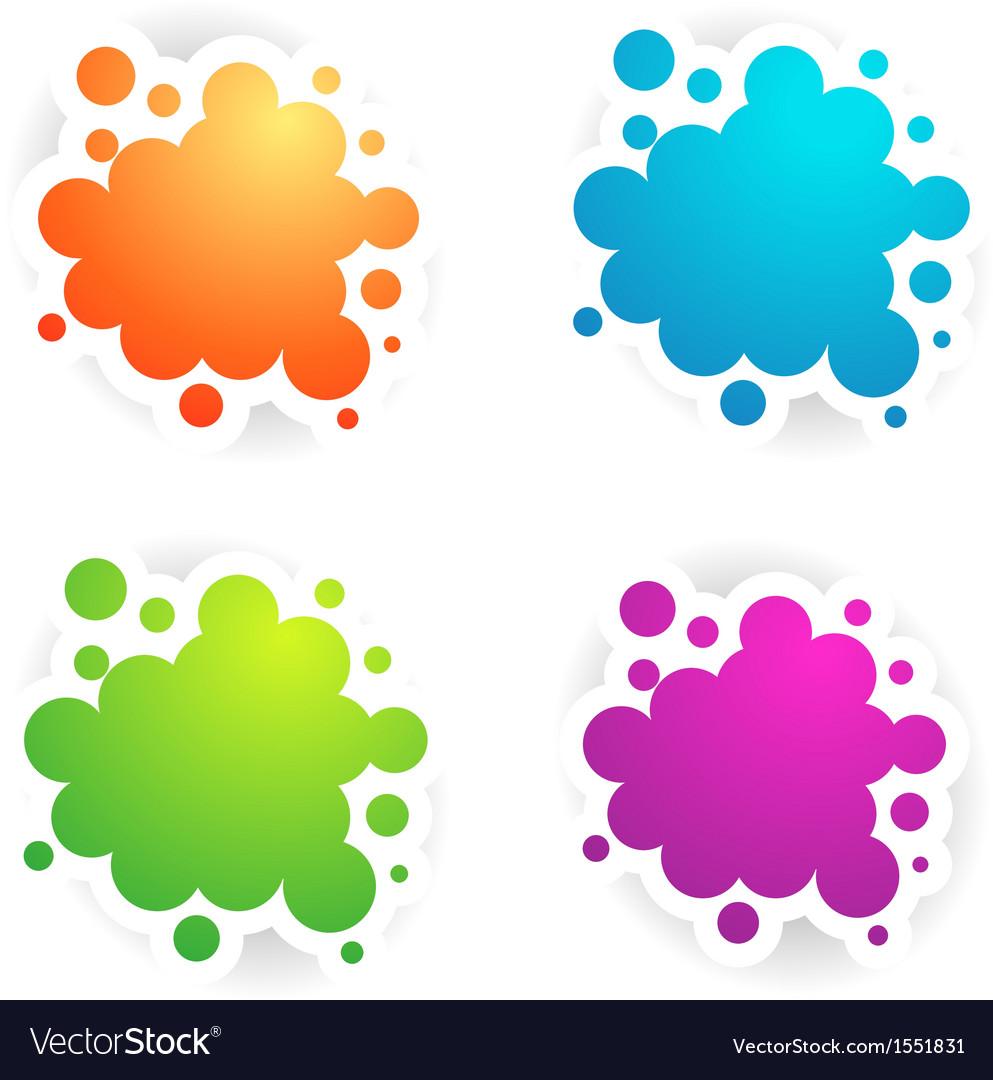 Colors copyspace designs vector